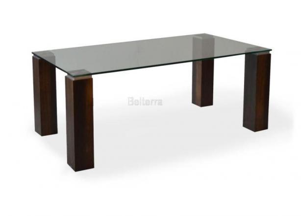 Dyhový skleněný konferenční stůl
