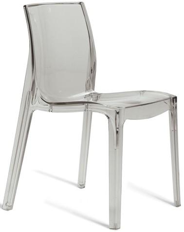 Průhledná židle šedá