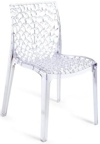 Průhledná židle bílá